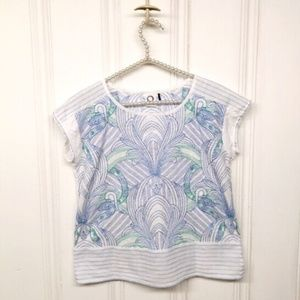 Anthropologie  Embroidered Sienna Top Size XS